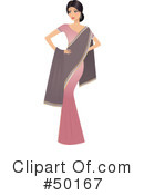 Royalty-Free (RF) Indian Woman Clipart Illustration #50167