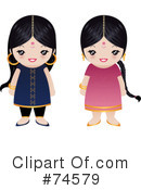Indian Woman Clipart #74579 by Melisende Vector