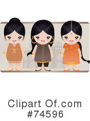 Indian Women Clipart #74596 by Melisende Vector