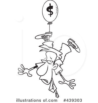 Royalty-Free (RF) Inflation Clipart Illustration by Ron Leishman - Stock Sample #439303