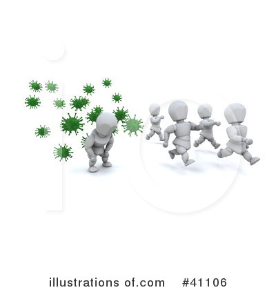 Royalty-Free (RF) Influenza Clipart Illustration by KJ Pargeter - Stock Sample #41106