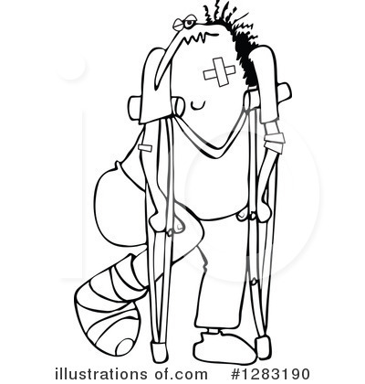 Royalty-Free (RF) Injured Clipart Illustration by djart - Stock Sample #1283190