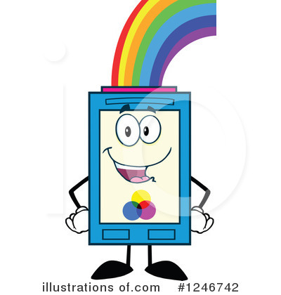 Royalty-Free (RF) Ink Cartridge Clipart Illustration by Hit Toon - Stock Sample #1246742