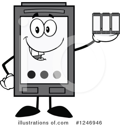 Ink Cartridge Clipart #1246946 by Hit Toon