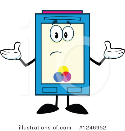 Ink Cartridge Clipart #1246952 by Hit Toon