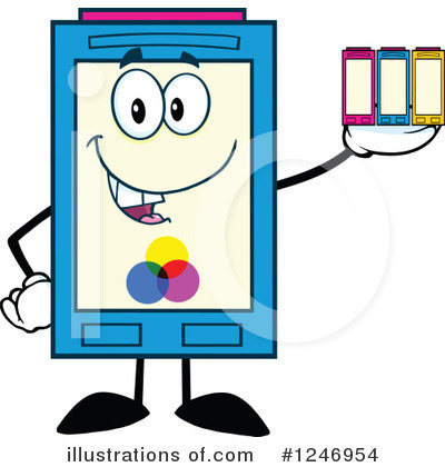 Ink Cartridge Clipart #1246954 by Hit Toon