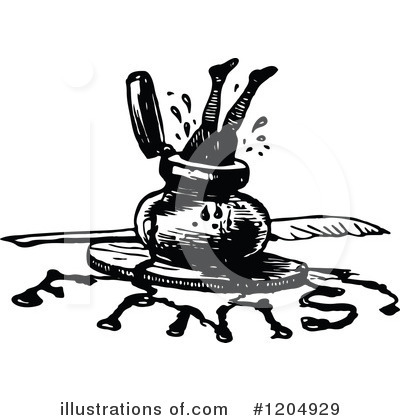 Royalty-Free (RF) Ink Clipart Illustration by Prawny Vintage - Stock Sample #1204929