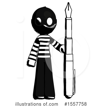 Ink Design Mascot Clipart #1557758 by Leo Blanchette