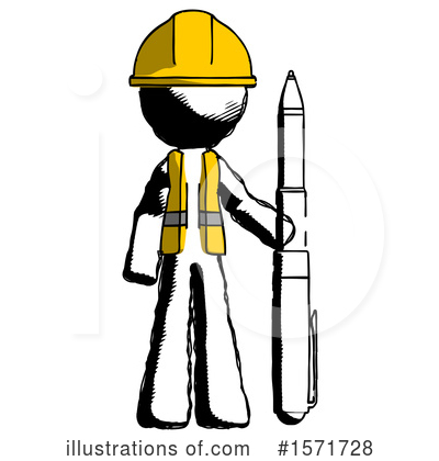 Ink Design Mascot Clipart #1571728 by Leo Blanchette