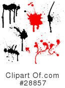 Ink Splatters Clipart #28857
