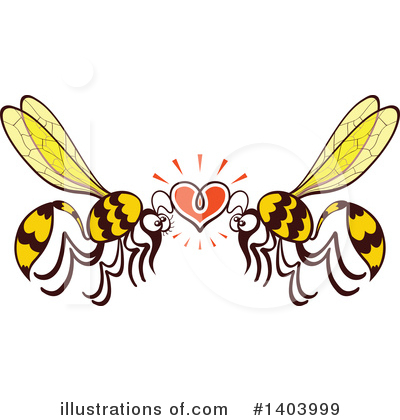 Wasp Clipart #1403999 by Zooco
