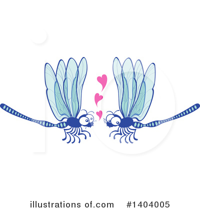 Dragonfly Clipart #1404005 by Zooco