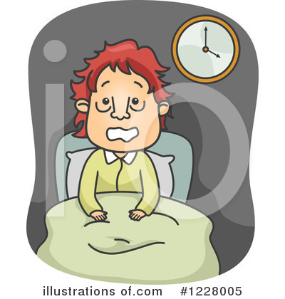 Royalty-Free (RF) Insomnia Clipart Illustration by BNP Design Studio - Stock Sample #1228005