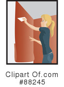 Royalty-Free (RF) installing wallpaper Clipart Illustration #88245