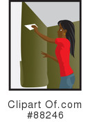 Installing Wallpaper Clipart #88246 by Rosie Piter