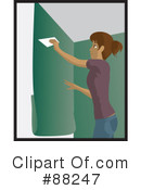 Installing Wallpaper Clipart #88247 by Rosie Piter