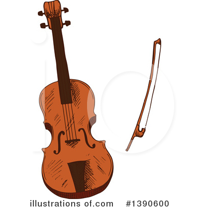 Violin Clipart #1390600 by Vector Tradition SM