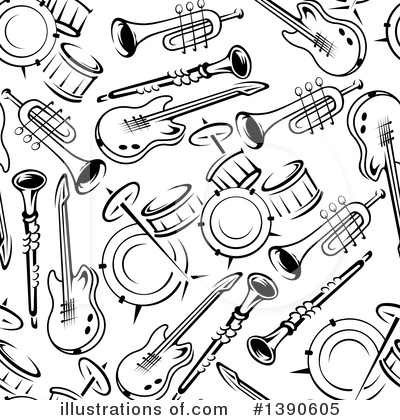 Guitar Clipart #1390605 by Vector Tradition SM