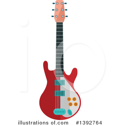 Guitar Clipart #1392764 by Vector Tradition SM