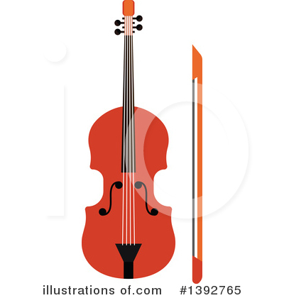 Violin Clipart #1392765 by Vector Tradition SM