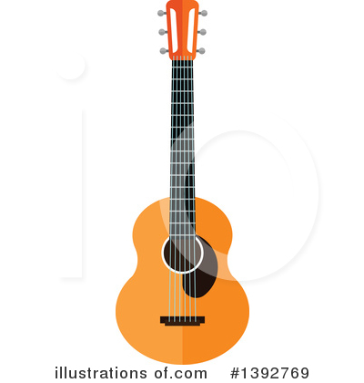 Guitar Clipart #1392769 by Vector Tradition SM