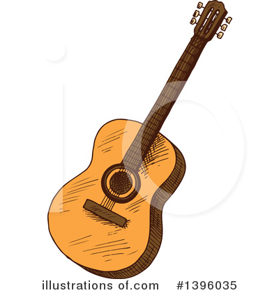 Guitar Clipart #1396035 by Vector Tradition SM