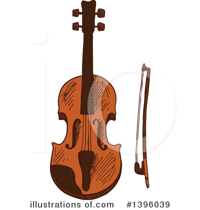 Violin Clipart #1396039 by Vector Tradition SM