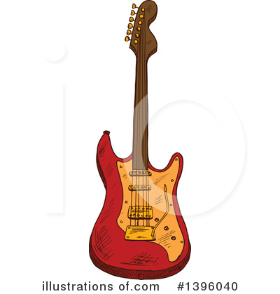 Guitar Clipart #1396040 by Vector Tradition SM
