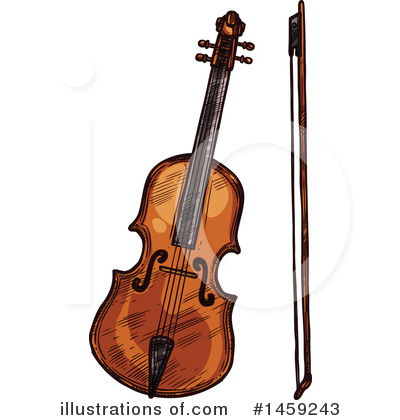 Violin Clipart #1459243 by Vector Tradition SM