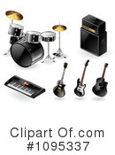 Royalty-Free (RF) instruments Clipart Illustration #1095337