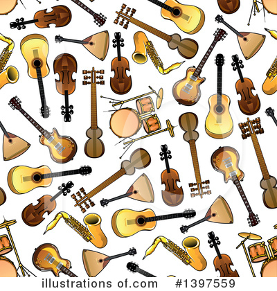 Violin Clipart #1397559 by Vector Tradition SM