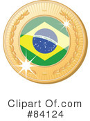 Royalty-Free (RF) International Medal Clipart Illustration #84124