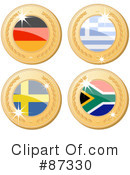 Royalty-Free (RF) International Medal Clipart Illustration #87330