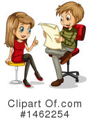Royalty-Free (RF) Interview Clipart Illustration #1462254