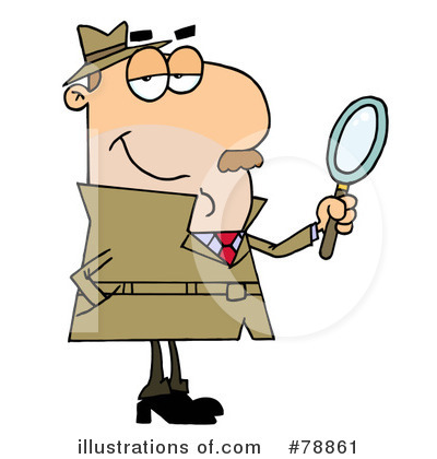 Royalty-Free (RF) Investigator Clipart Illustration #78861 by Hit Toon