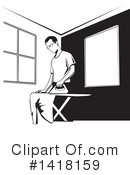 Ironing Clipart #1418159 by David Rey
