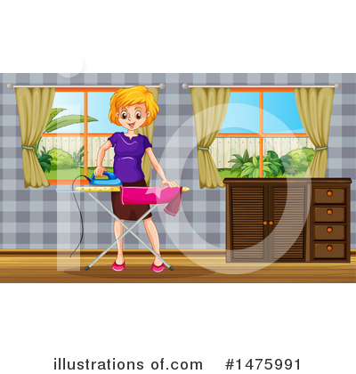 Ironing Clipart #1475991 by Graphics RF