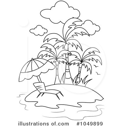 Royalty-Free  RF  Island Clipart Illustration  1049899 by BNP Design    Island Clipart Black And White