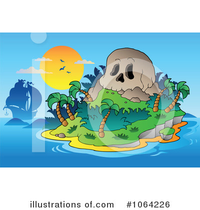 Tropical Island Clipart #1064226 by visekart