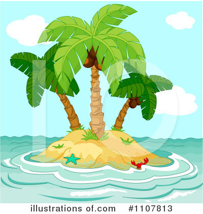 Royalty-Free (RF) Island Clipart Illustration by Pushkin - Stock Sample #1107813