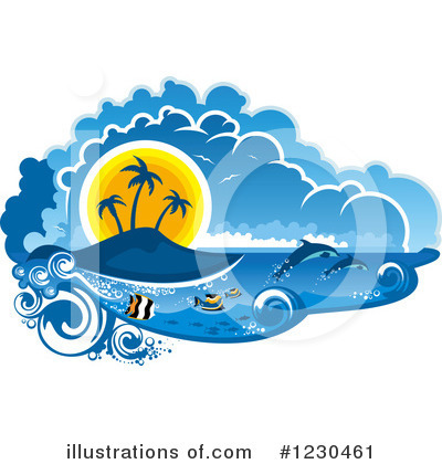 Island Clipart #1230461 by Vector Tradition SM