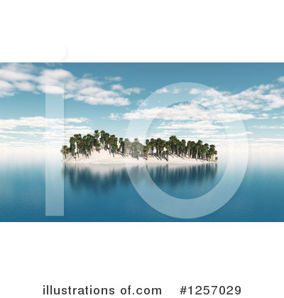 Island Clipart #1257029 by KJ Pargeter