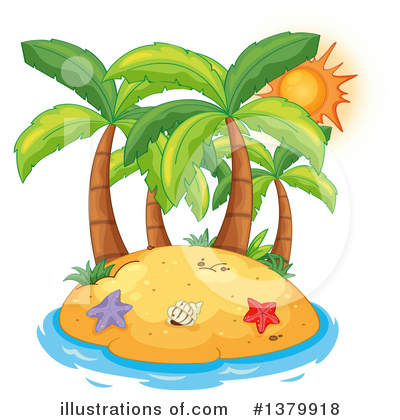 Palm Trees Clipart #1379918 by Graphics RF