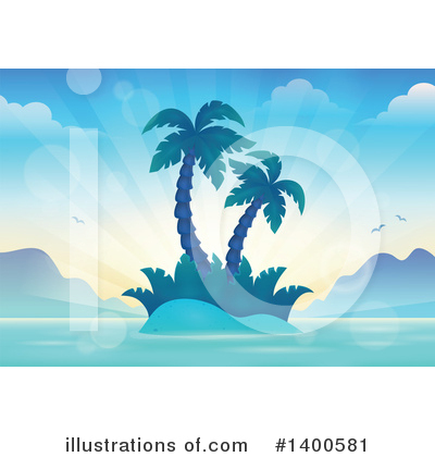 Tropical Island Clipart #1400581 by visekart