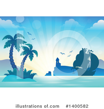Tropical Island Clipart #1400582 by visekart