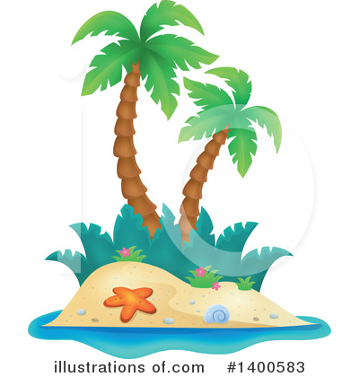 Royalty-Free (RF) Island Clipart Illustration by visekart - Stock Sample #1400583