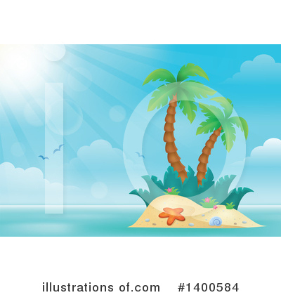 Tropical Island Clipart #1400584 by visekart