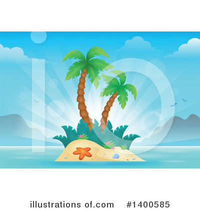 Tropical Island Clipart #1400585 by visekart