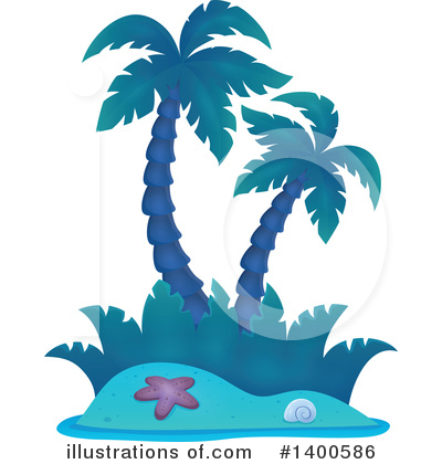 Tropical Island Clipart #1400586 by visekart