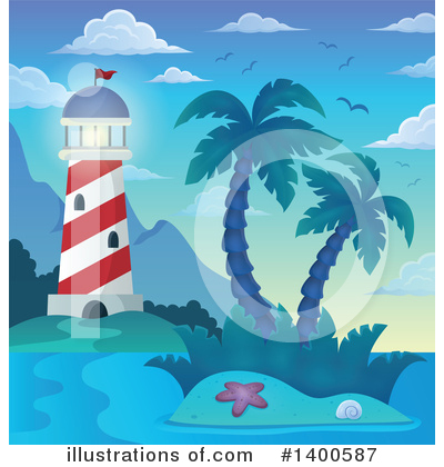 Tropical Island Clipart #1400587 by visekart